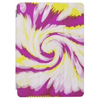 Groovy Pink Yellow White TieDye Swirl Abstract