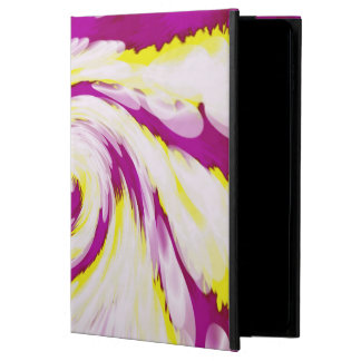 Groovy Pink Yellow White TieDye Swirl Abstract Powis iPad Air 2 Case