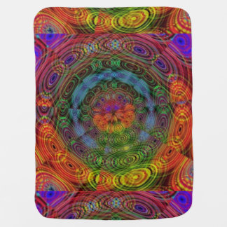 Groovy psychedelic baby blanket