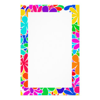 Groovy Psychedelic Flowers Stationery