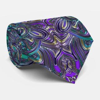 Groovy Psychedelic Purple Mandala Tie