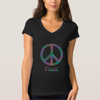 Groovy Psychedelic Rainbow Peace Sign T-Shirt