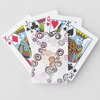 Groovy Purple Swirling Art Bicycle Playing Cards