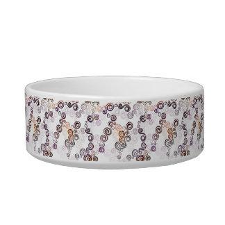 Groovy Purple Swirling Art Bowl