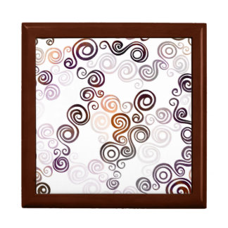 Groovy Purple Swirling Art Gift Box