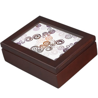 Groovy Purple Swirling Art Keepsake Box