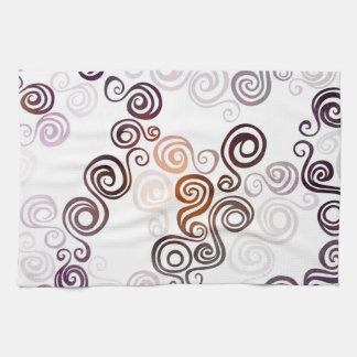 Groovy Purple Swirling Art Kitchen Towel