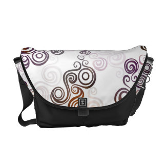 Groovy Purple Swirling Art Messenger Bag