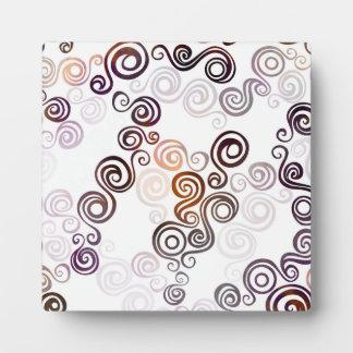 Groovy Purple Swirling Art Plaque