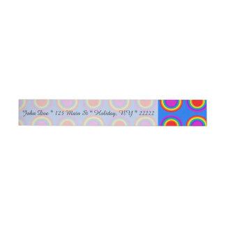 Groovy Rainbow of Concentric Circles Wraparound Address Label