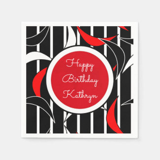 Groovy Retro Birthday Disposable Napkin
