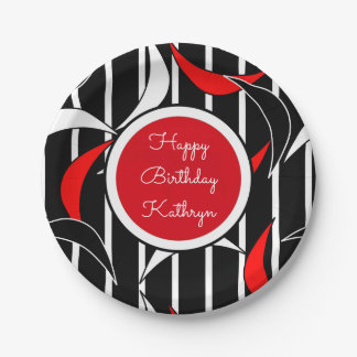 Groovy Retro Birthday Paper Plate