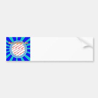 Groovy Retro Father's Day Blue Photo Frame Bumper Sticker