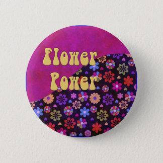 Groovy Retro Flower Power 60s 70s 2 Inch Round Button