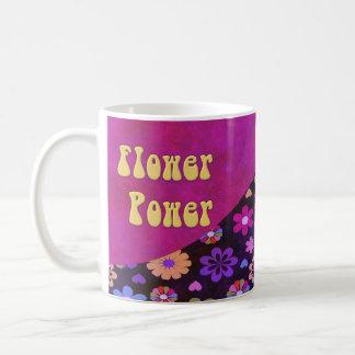 Groovy Retro Flower Power 60s 70s Classic White Coffee Mug