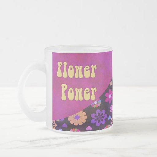 Groovy Retro Flower Power 60s 70s Coffee Mugs