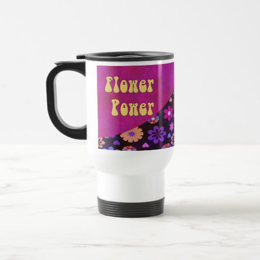 Groovy Retro Flower Power 60s 70s Travel Coffee Mugs