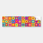 Groovy Retro Flower Power Bumper Stickers