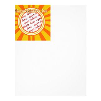 Groovy Retro Gold & Orange Father's Day Frame Flyer Design