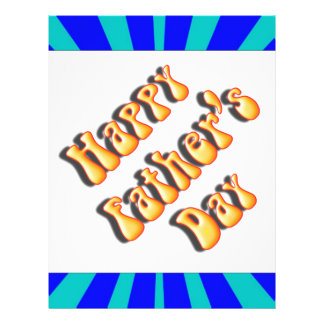 Groovy Retro Light Dark Blue Father s Day Flyer Design