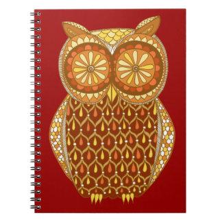 Groovy Retro Owl Notebook