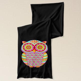 Groovy Retro Owl Scarf - Colorful!
