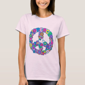 Groovy Retro Peace Sign & Dove T-Shirt