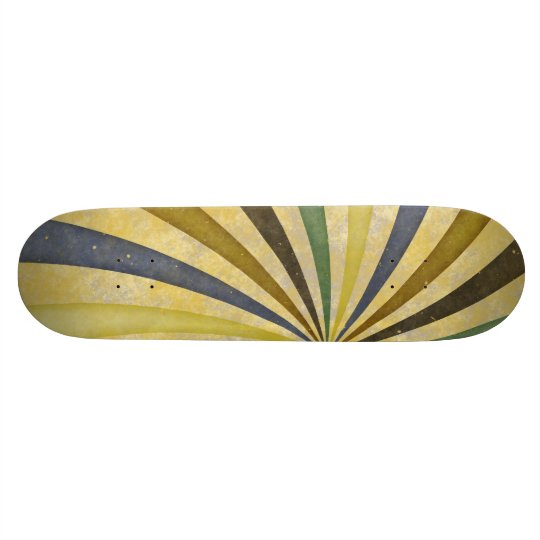 Groovy Retro Spiral Sunbeam Ray Swirl Design Custom Skateboard