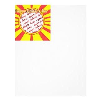 Groovy Retro Yellow Red Father s Day Frame Flyer