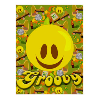 Groovy Seventies Pattern Poster