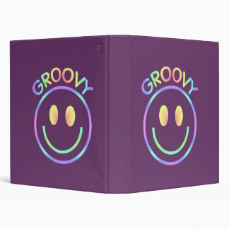 Groovy Smiley Notebook Binder