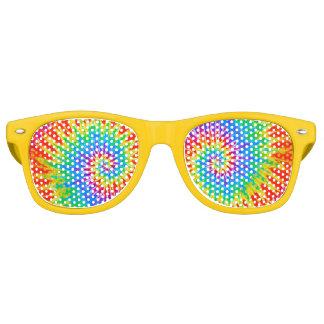 Groovy Spiral Rainbow Tie Dye Party Shades