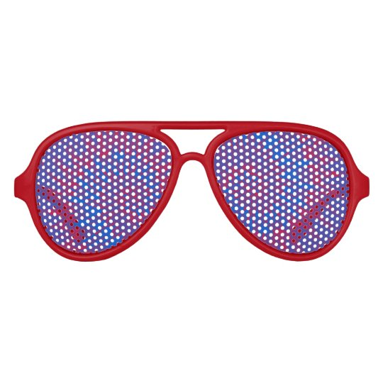 Groovy Spiral Red and Blue Tie Dye Sunglasses