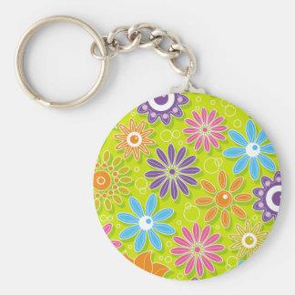 Groovy Spring Flower Power Keychains
