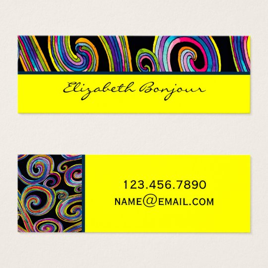 Groovy Swirls ~ Business Card / Calling Card