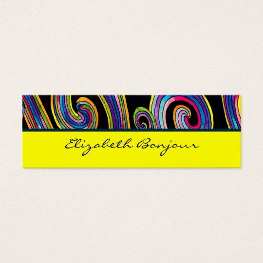 Groovy Swirls ~ Business Card / Calling Card