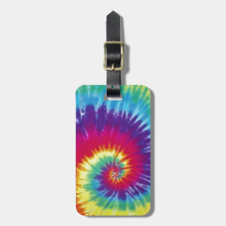 Groovy Tie Dye Hippie Style Luggage Tag