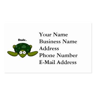 Groovy Turtle Dude Cartoon Business Card