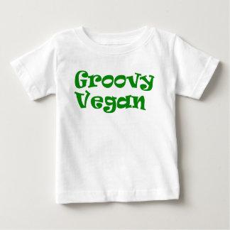 """Groovy vegan"" baby shirt"