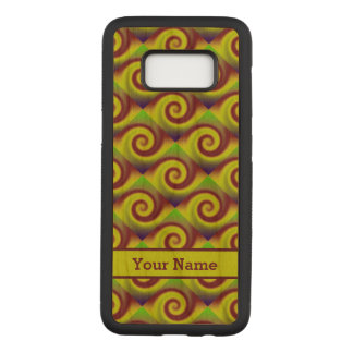 Groovy Yellow Brown Swirl Abstract Pattern Carved Samsung Galaxy S8 Case