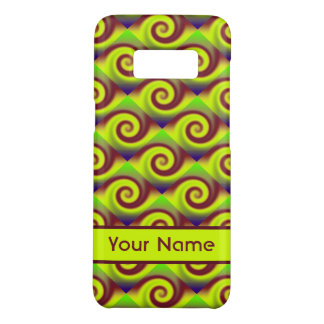 Groovy Yellow Brown Swirl Abstract Pattern Case-Mate Samsung Galaxy S8 Case