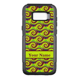 Groovy Yellow Brown Swirl Abstract Pattern OtterBox Commuter Samsung Galaxy S8+ Case