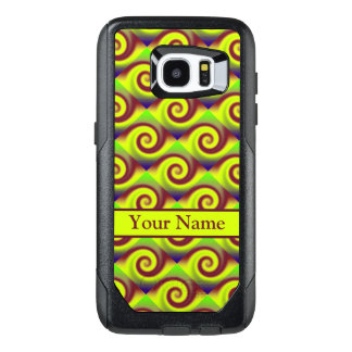 Groovy Yellow Brown Swirl Abstract Pattern OtterBox Samsung Galaxy S7 Edge Case