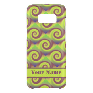 Groovy Yellow Brown Swirl Abstract Pattern Uncommon Samsung Galaxy S8 Case