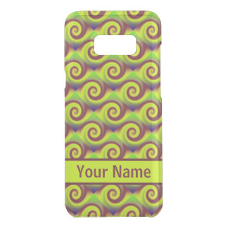 Groovy Yellow Brown Swirl Abstract Pattern Uncommon Samsung Galaxy S8 Plus Case