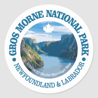 Gros Morne National Park Classic Round Sticker