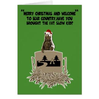 Gros Noël drôle de plaisanterie Carte De Vœux