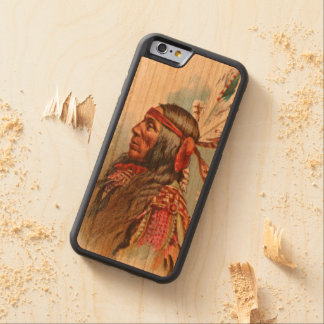 Gros Ventre Chief: Lean Wolf Carved Cherry iPhone 6 Bumper Case