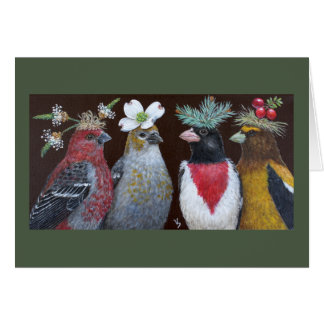 Grosbeak Party greeting card