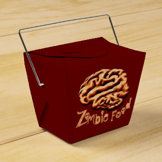 Gross Zombie Food Brains Halloween Party Favor Box